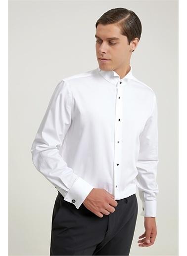 Damat Smokin Gömlek Beyaz